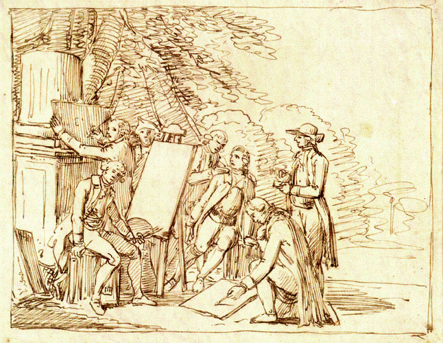 Friedrich Bury_Goethes Freundeskreisin der Villa Borghese